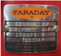 Faraday Vintage Faraday Data Plate