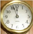 Old Brass Standard Clock